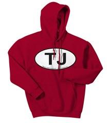 Oval Jeep TJ Logo Men's Hoodie Sweatshirt