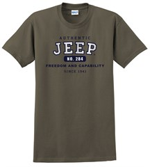 """""""Authentic Jeep"""" Short Sleeved Shirt in Green"""