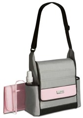 Jeep Diaper Bag with Flap, Pink/Grey