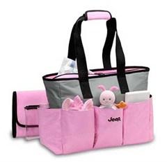 Jeep Diaper Bags Pink Micro Fiber Tote