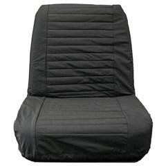 Seat Covers Front Jeep CJ 1965-1980 Low Back Seats Black Denim Bestop