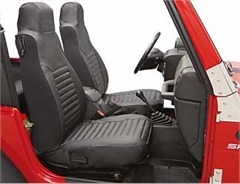 Seat Covers Front Wrangler TJ & LJ 2003-2006 Black Diamond Bestop