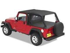 Bestop Header Safari Bikini Top for Jeep Wrangler LJ (2004-2006)