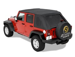 Bestop Trektop Frameless Soft Top for Jeep Wrangler JKU 4 Door 2007-2018