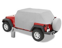 All Weather Trail Cover Jeep Wrangler JK 4D 2007-2018 Gray by Bestop