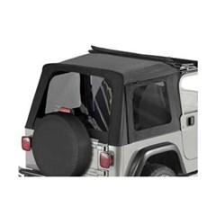 Tinted Window Kit, Black Denim - Jeep Wrangler TJ Sunrider