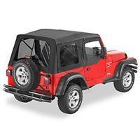 Bestop Supertop, Jeep TJ -Tint Windows w/half door-Black Denim
