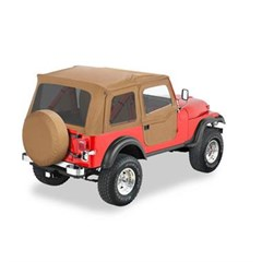 Bestop Supertop Soft Top- CJ7, YJ w/ 2 pce doors - Spice