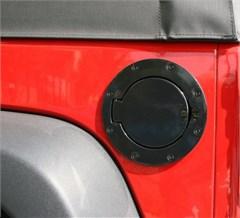 Gas Door Cover without Lock Wrangler JK 2007-2018 Black Aluminum
