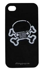 Jeep Skull & Crossbones iPhone Hard Case Black