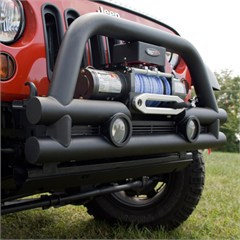 Stubby Tube Bumper w/Winch for Jeep Wrangler JK 2007-2017 Front 3 Inch