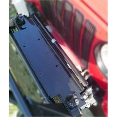 Black Winch Mount Plate for Jeep Wrangler YJ, TJ, LJ (1987-2006)