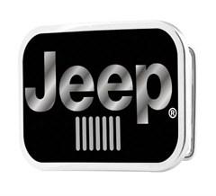 Jeep Logo Buckle Belt - Glossy Black Finish