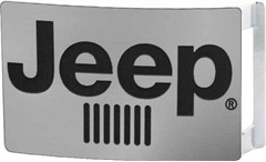 Jeep Grille Belt Buckle - Matte Silver