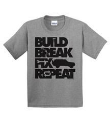 Build, Break, Fix, Repeat Youth Tee with Cherokee