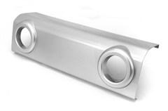 Bumper Applique-Matches OEM Sahara Wrangler JK 2007-2018 Front Silver