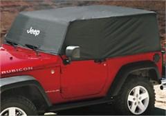 Cab Cover Jeep Wrangler JK 2 Door 2007-2018 w/Jeep Logo Black