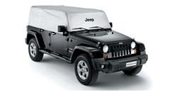 Cab Cover Wrangler Unlmtd JKU 4 Dr 2007-2018 Jeep Logo Silver