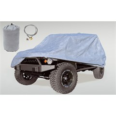 Car Cover with Bag & Cable Lock Wrangler JK 2D 2007-2018 Rugged Ridge