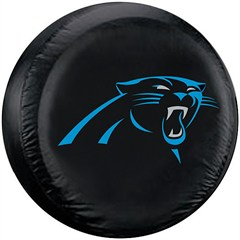 Carolina Panthers NFL Tire Cover - Black Vinyl