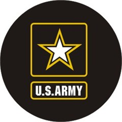 U.S. Army Spare Tire Cover, Black Vinyl