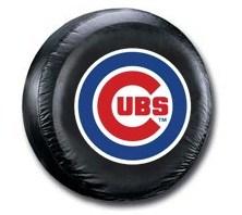 Chicago Cubs MLB Tire Cover - Black Vinyl