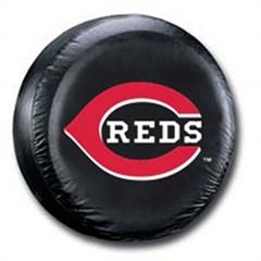 Cincinnati Reds MLB Tire Cover - Black Vinyl