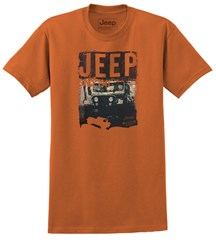 Club Jeep Men's T-Shirt in Burnt Orange