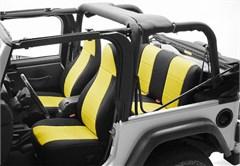 Neoprene Rear Seat Covers for Jeep Wrangler YJ (1987-1991), CoverKing