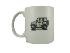 """JK Wrangler 4D """"Where's Your Playground"""" Mug by All Things Jeep"""