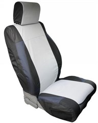 Polycanvas Front Seat Covers Wrangler JK 2007-2017 Black & Gray