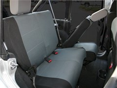 Polycanvas Rear Seat Covers Wrangler JK 2D 2007-2016 Black & Gray