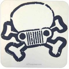 Jeep Skull & Crossbones Coaster Set