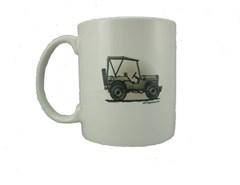 "All Things Jeep Custom ""Military Jeep"" Coffee Mug"