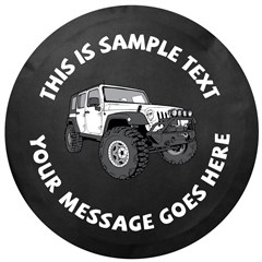 Custom Text JK Wrangler 4 Door Tire Cover by All Things Jeep