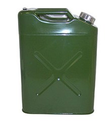 Metal 5 Gallon Jerry Can with Plastic Nozzle, Olive