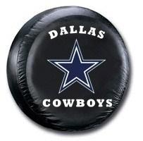 Dallas Cowboys NFL Tire Cover - Black Vinyl