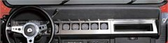 Stainless Steel Dash Overlay for 1987-1995 Jeep Wrangler YJ