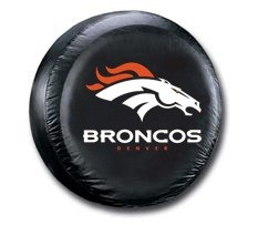 Denver Broncos NFL Tire Cover - Black Vinyl
