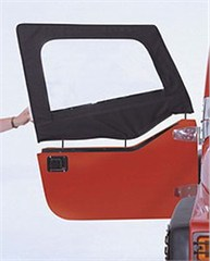 Pair of Denim Black Door Skins and Frames for Jeep Wrangler (97-06)