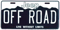 Jeep OFF-ROAD License Plate