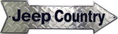 """""""Jeep Country"""" Arrow Sign"""