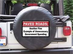 Paved Roads: Unnecessary Government Spending Black Spare Wheel Cover