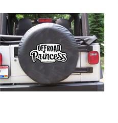 Off-Road Princess Black Spare Wheel Cover