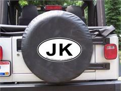 JK Oval Design on Black Spare Wheel Cover