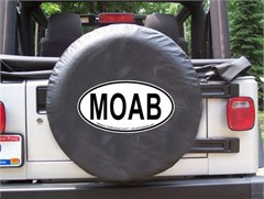 MOAB Oval Design on Black Spare Wheel Cover
