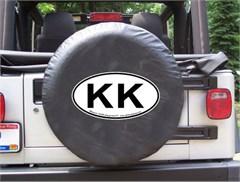 KK Oval Design on Black Spare Wheel Cover