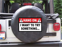 Hang On, I want to try Something... Black Spare Wheel Cover