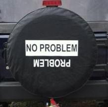 No Problem / Problem  - Black Spare Wheel Cover