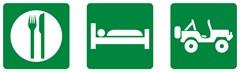 """""""Eat, Sleep, 4x4"""" Road Sign Decal"""